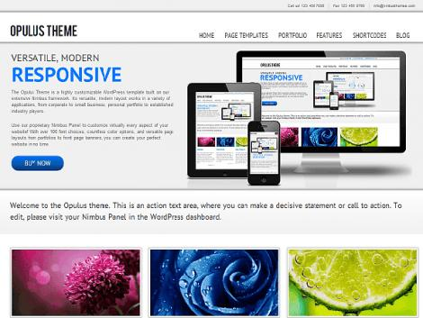 theme wordpress opulus responsive free