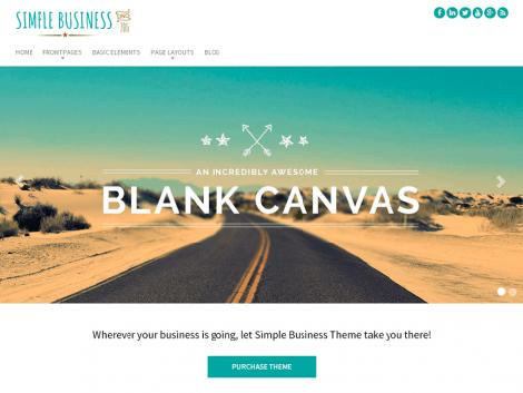 theme wordpress simple business free