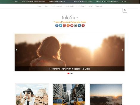 Theme WordPress InkZine Responsive Free
