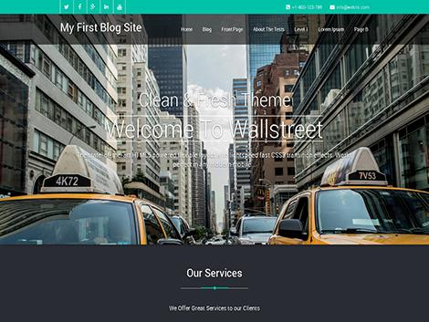 Theme wordpress Wallstreet responsive free
