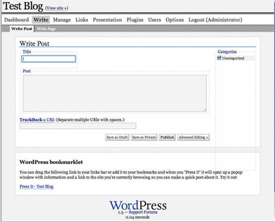 WordPress-1.5