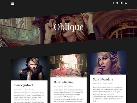 oblique theme wordpress fashion blogger