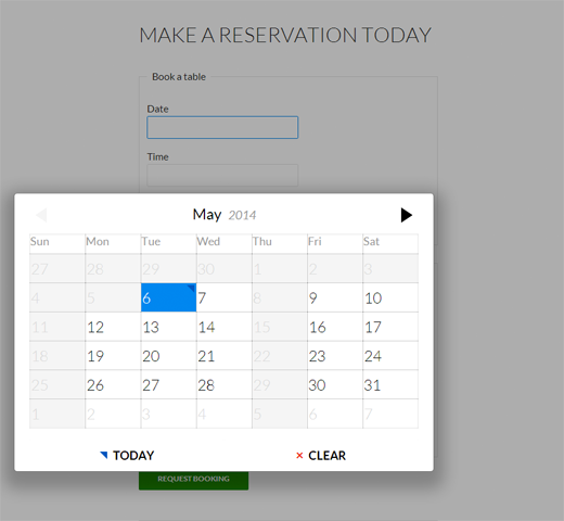 reservations preview booking