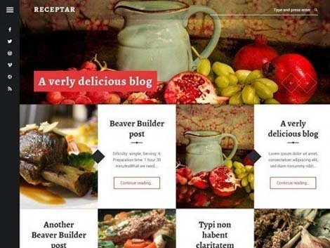theme wordpress recepta blog free
