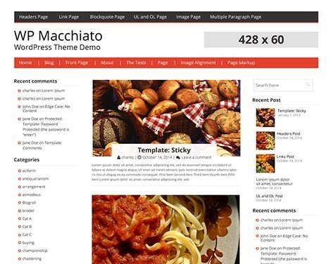 Theme WordPress Macchiato