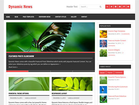 theme wordpress dynamic news