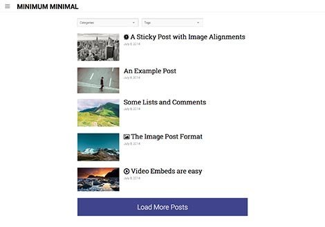 theme wordpress minimal minimum