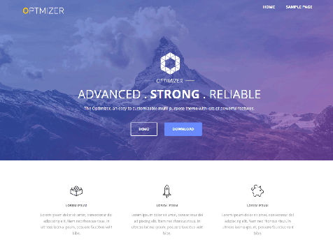 Theme wordpress optimizer responsive free