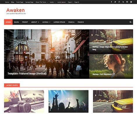 theme wordpress awaken responsive free
