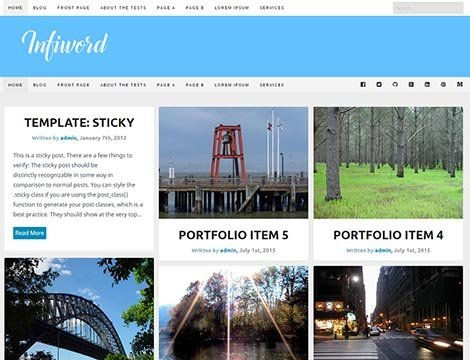 free responsive wordpress infiword theme