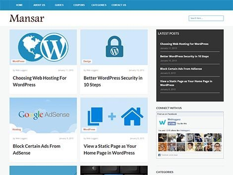 theme wordpress mansar free blog