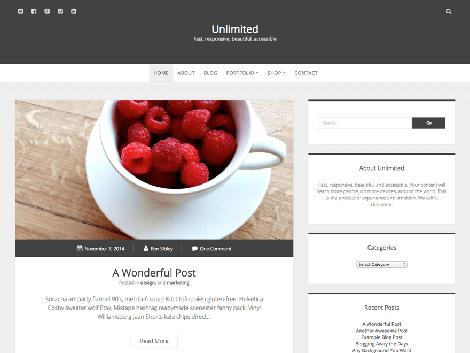 theme wordpress unlimited responsive free