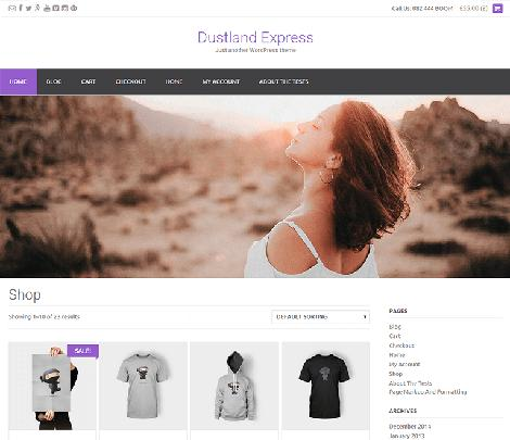 the dustland express responsive theme wordpress