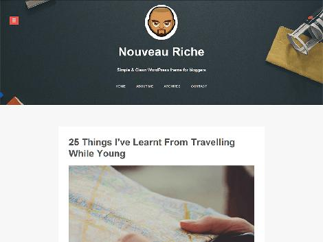 theme wordpress Nouveau Riche for blog