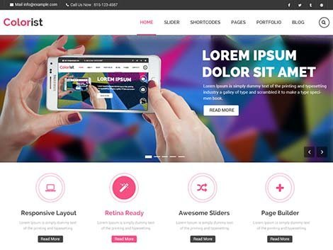 theme wordpress colorist responsive free