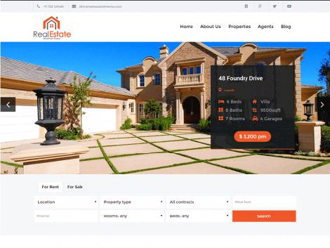 Theme WordPress Real estate lite responsive free