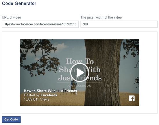 how to embed a wordpress facebook video