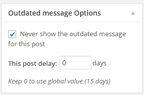 outdated message options