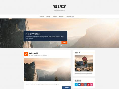 theme wordpress azeria responsive free