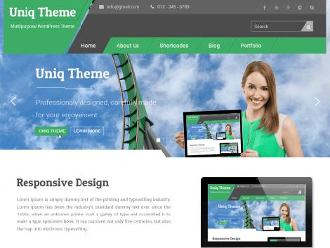 theme wordpress uniq responsive free