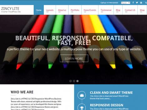 theme wordpress zincy lite free download