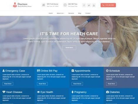 themes wordpress responsive doctors