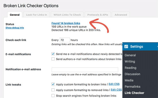 Broken Link Checker Plugin
