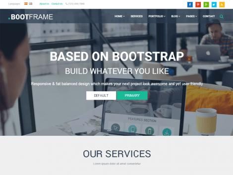 Theme WordPress BootFrame Core Responsive Free