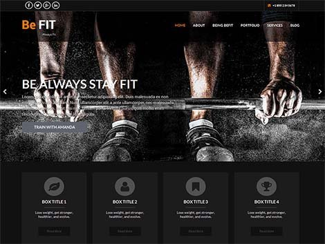 theme wordpress BeFit responsive Free