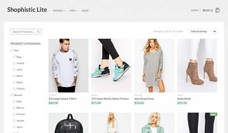 theme wordpress shophistic free woocommerce