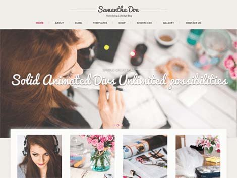 theme wordpress skt girlie lite free