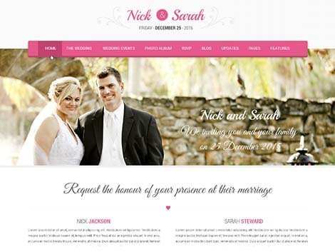 theme wordpress skt wedding lite