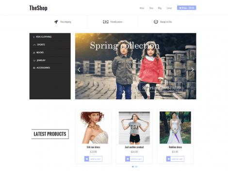 theme wordpress theshop responsive gratis