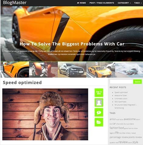 theme WordPress blogmaster responsive free