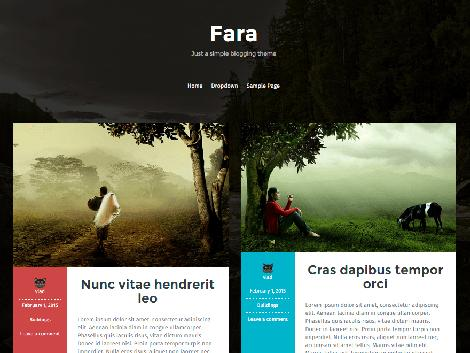 theme wordpress fara blog responsive free