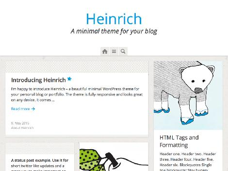 theme wordpress heinrich responsive free