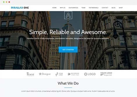 theme wordpress parallax one free