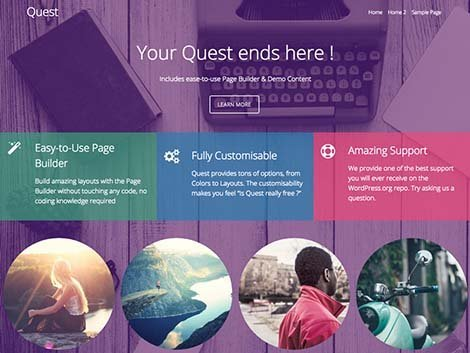 theme wordpress quest responsive free