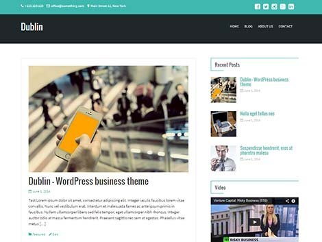 theme wordpress responsive dublin