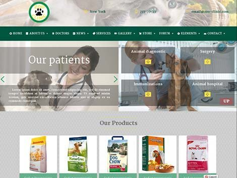 theme wordpress zoo clinic responsive free