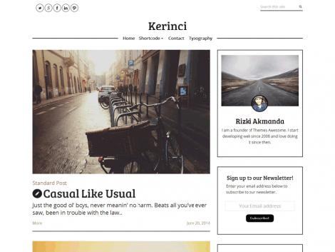 Kerinci theme wordpress blog free