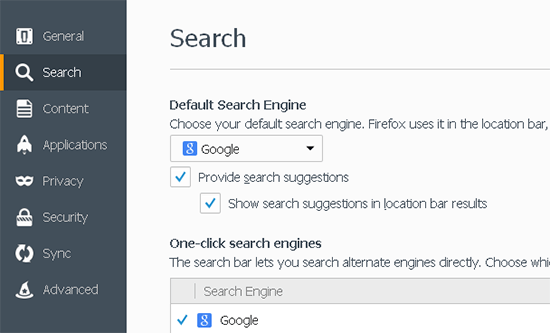 search manager firefox