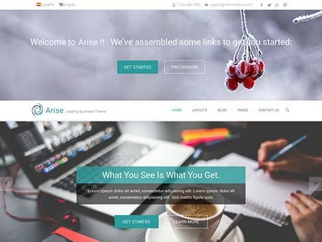 theme wordpress arise responsive free