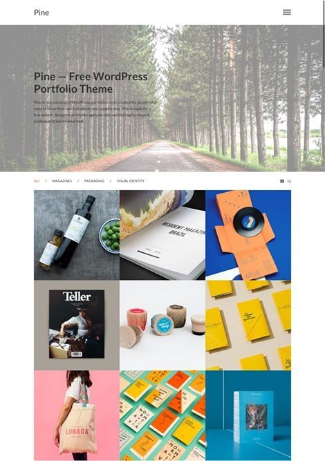 theme wordpress pine responsive free