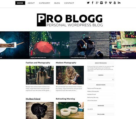 theme wordpress pro blog free