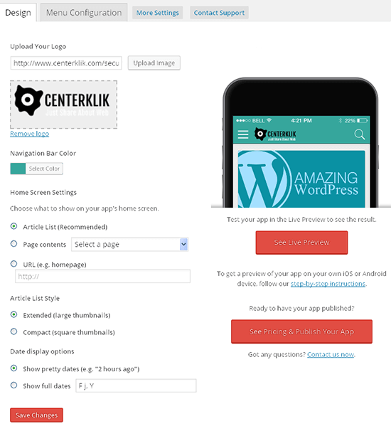 tutorial mobiloud wordpress