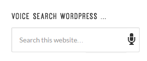 voice search wordpress