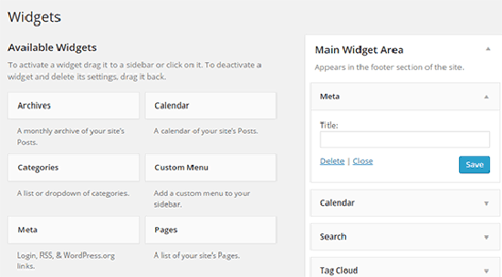 widget meta wordpress