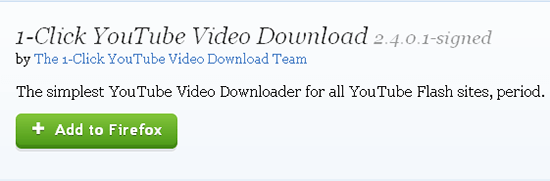 1 click download youtube