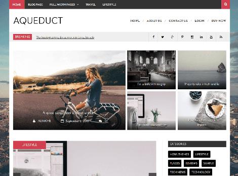 Aqueduct theme wordpress responsive free
